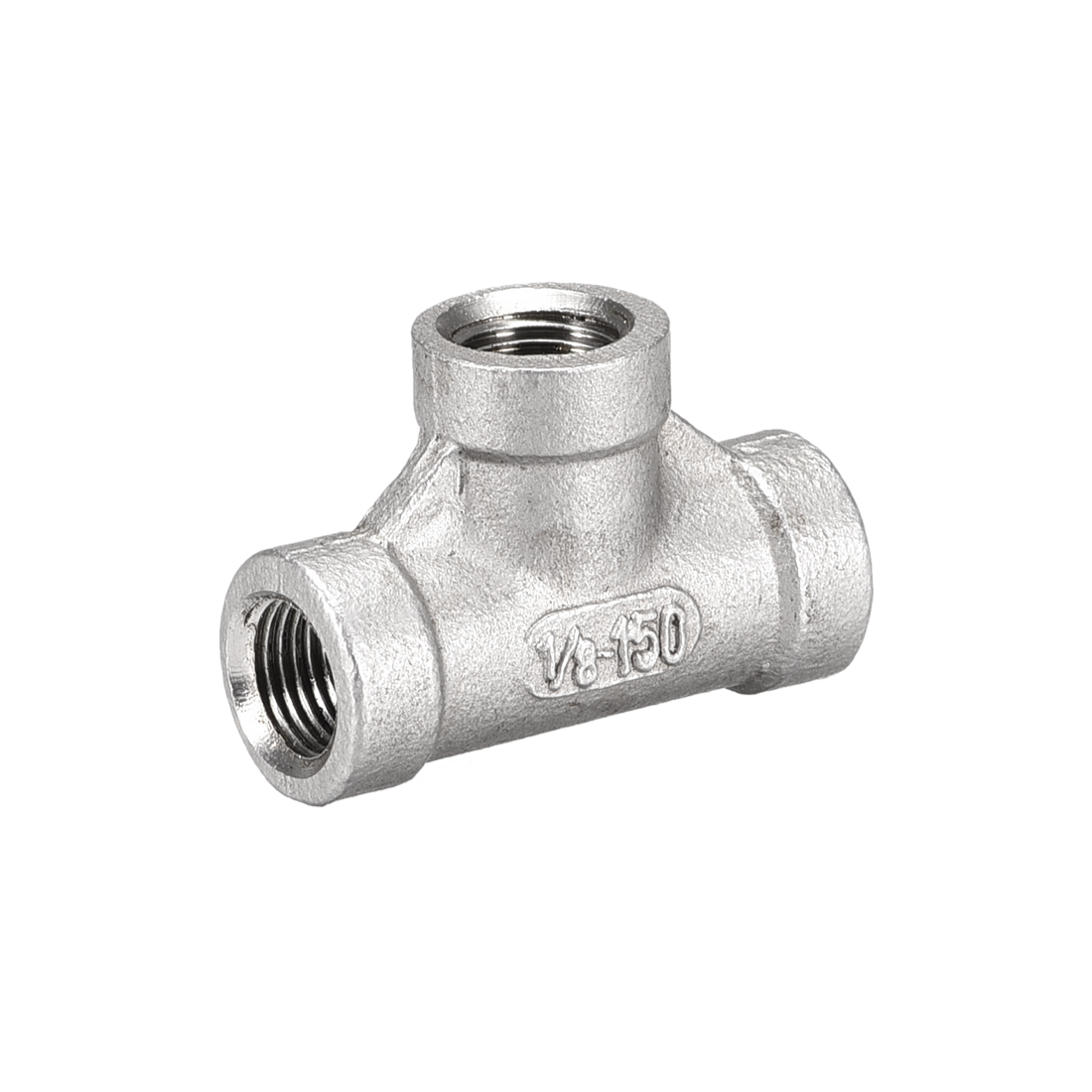 Stainless Steel 304 Cast Pipe Fitting 1/8BSPT Tee Shaped Connector Coupler