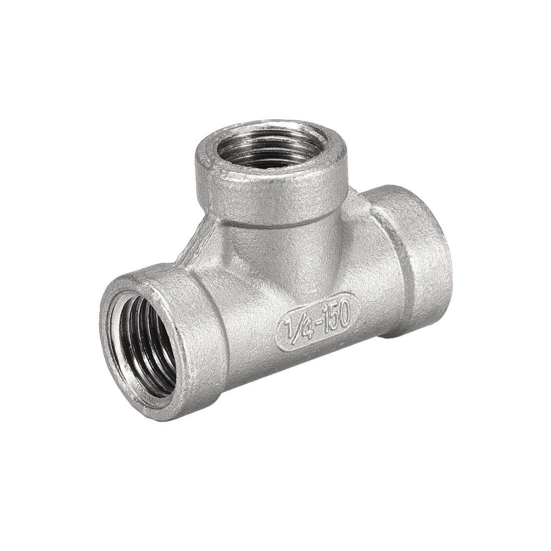 Stainless Steel 304 Cast Pipe Fitting 1/4BSPT Female Tee Shaped Connector