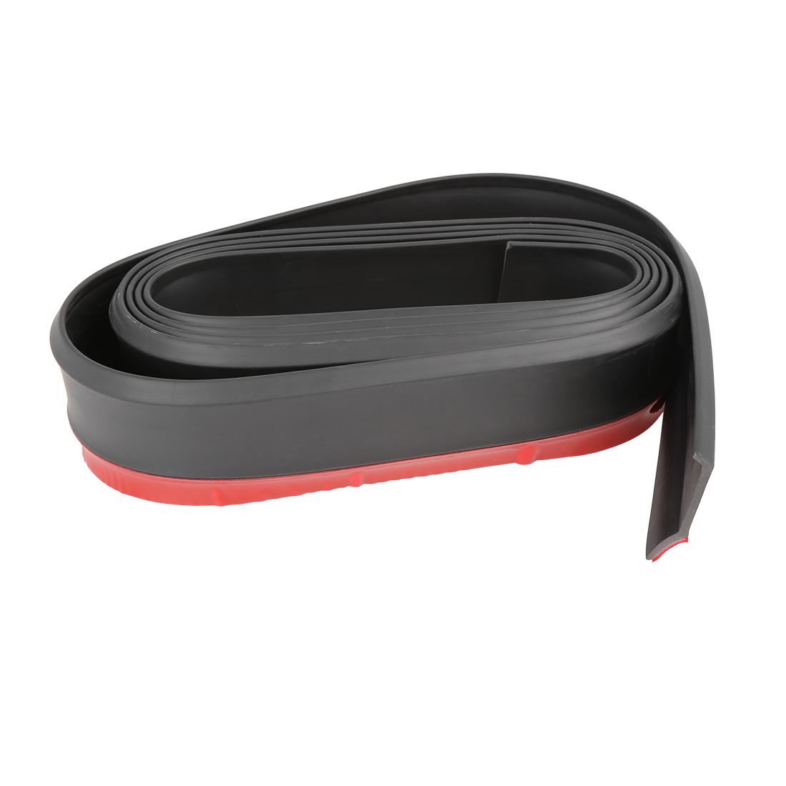 2.5m Univesal Front Bumper Lip Splitter Body Side Skirt Protector Black for Car