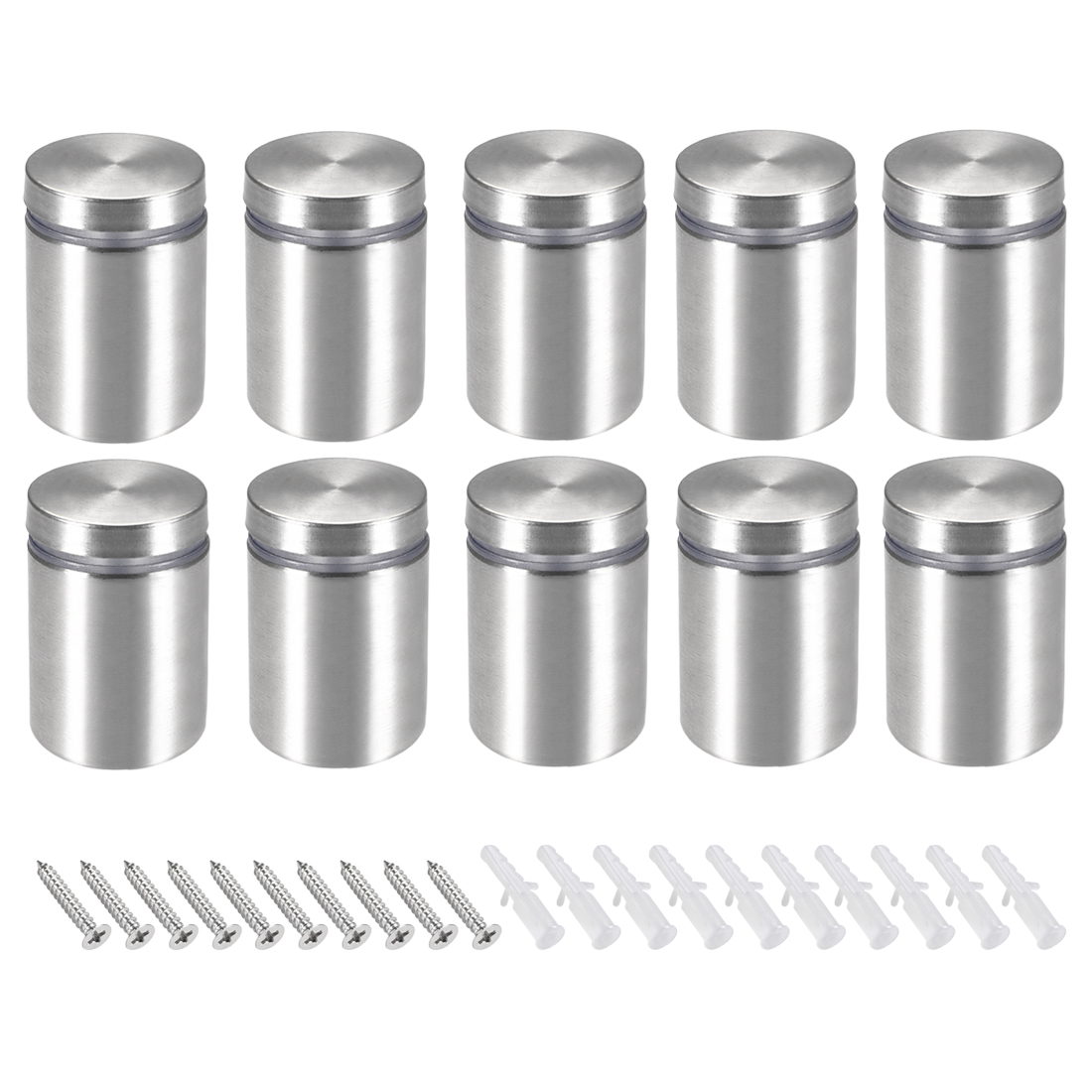 Glass Standoff Mount Stainless Steel Wall Standoff 25mm Dia 32mm Length 10Pcs
