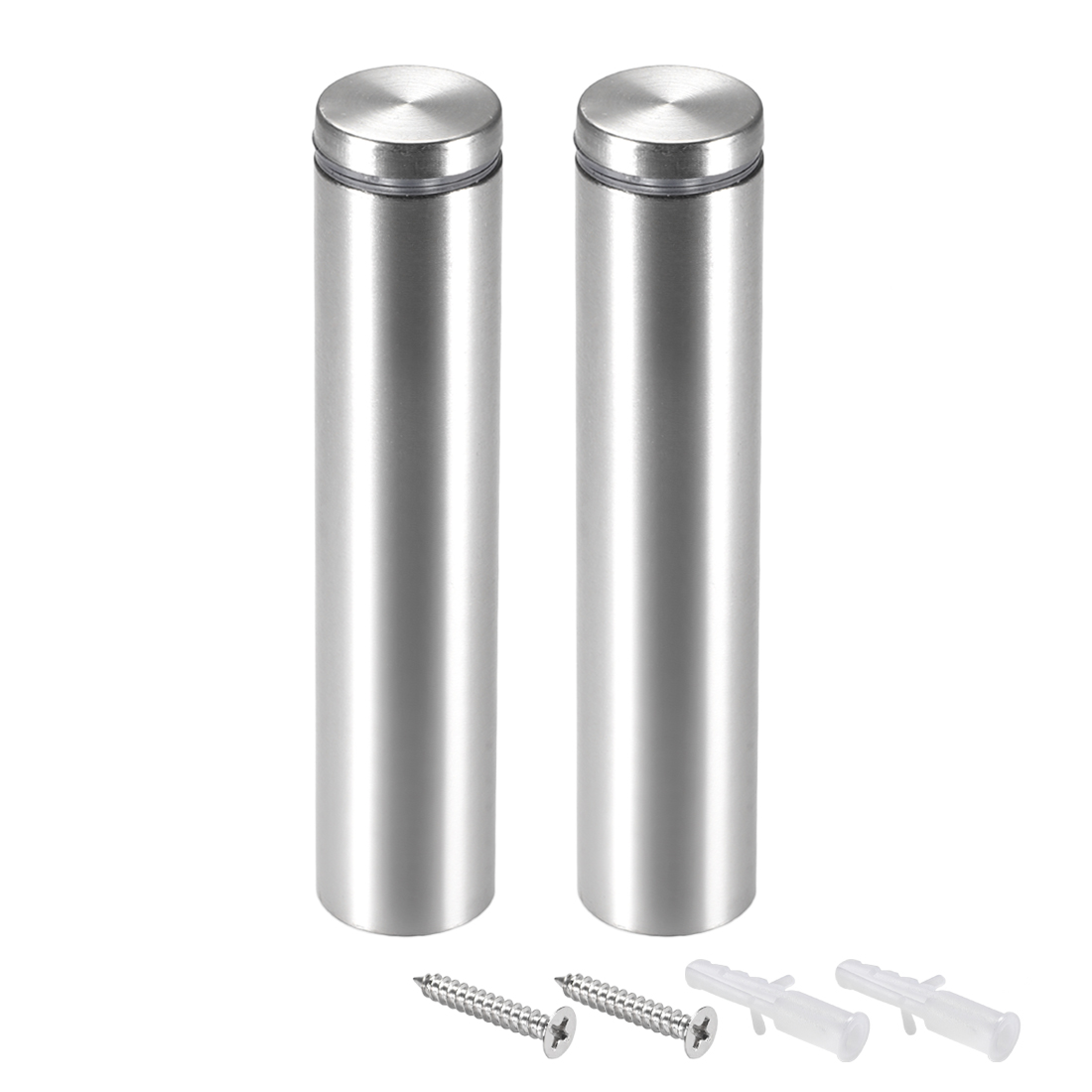 Glass Standoff Mount Stainless Steel Wall Standoff 25mm Dia 122mm Length 2Pcs