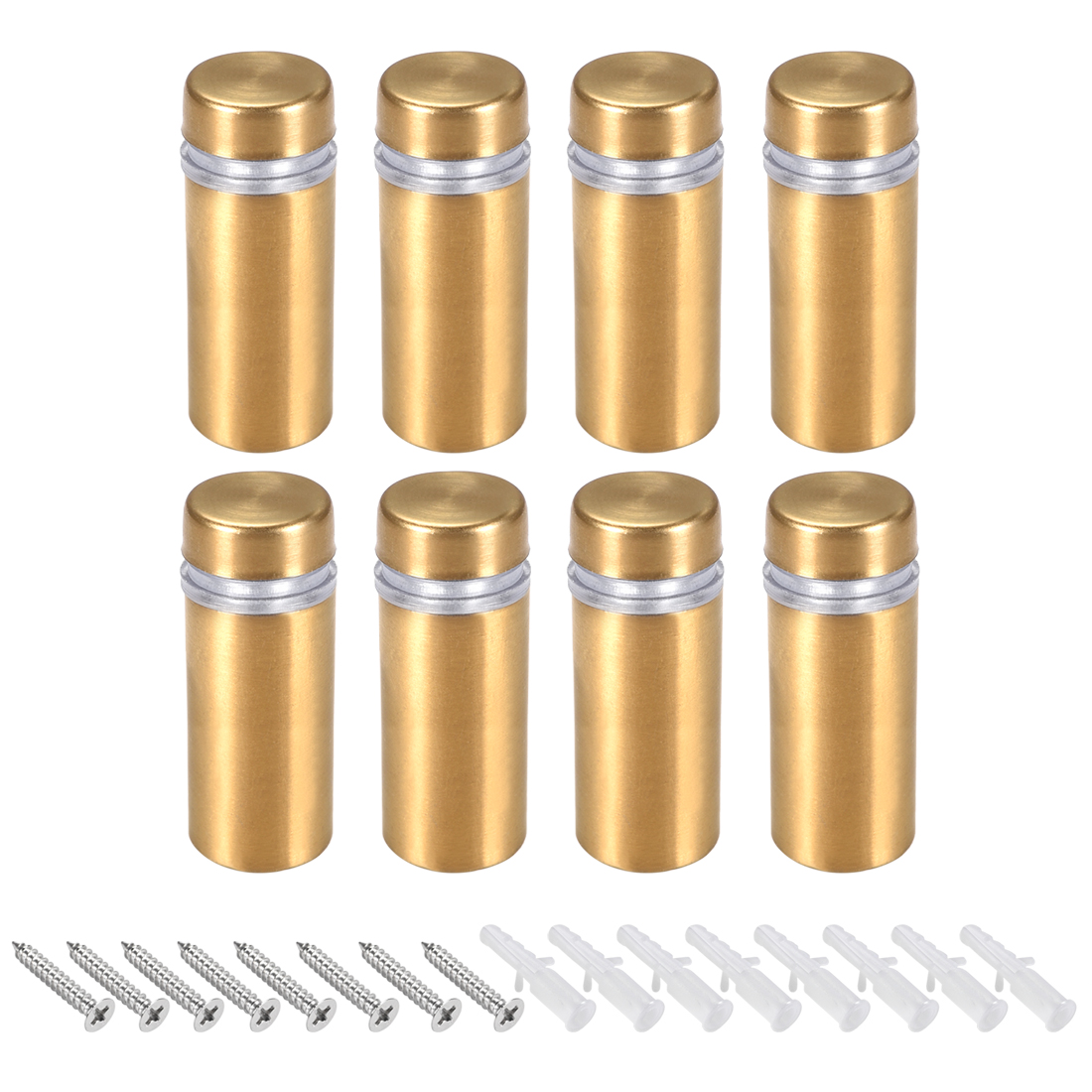 Glass Standoff Mount Wall Standoff Nails 12mm Dia 32mm Length Golden 8 Pcs