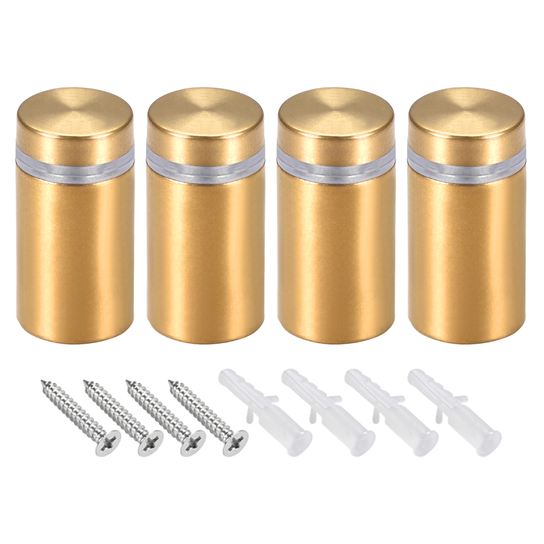 Glass Standoff Mount Wall Standoff Nails 16mm Dia 32mm Length Golden 4 Pcs