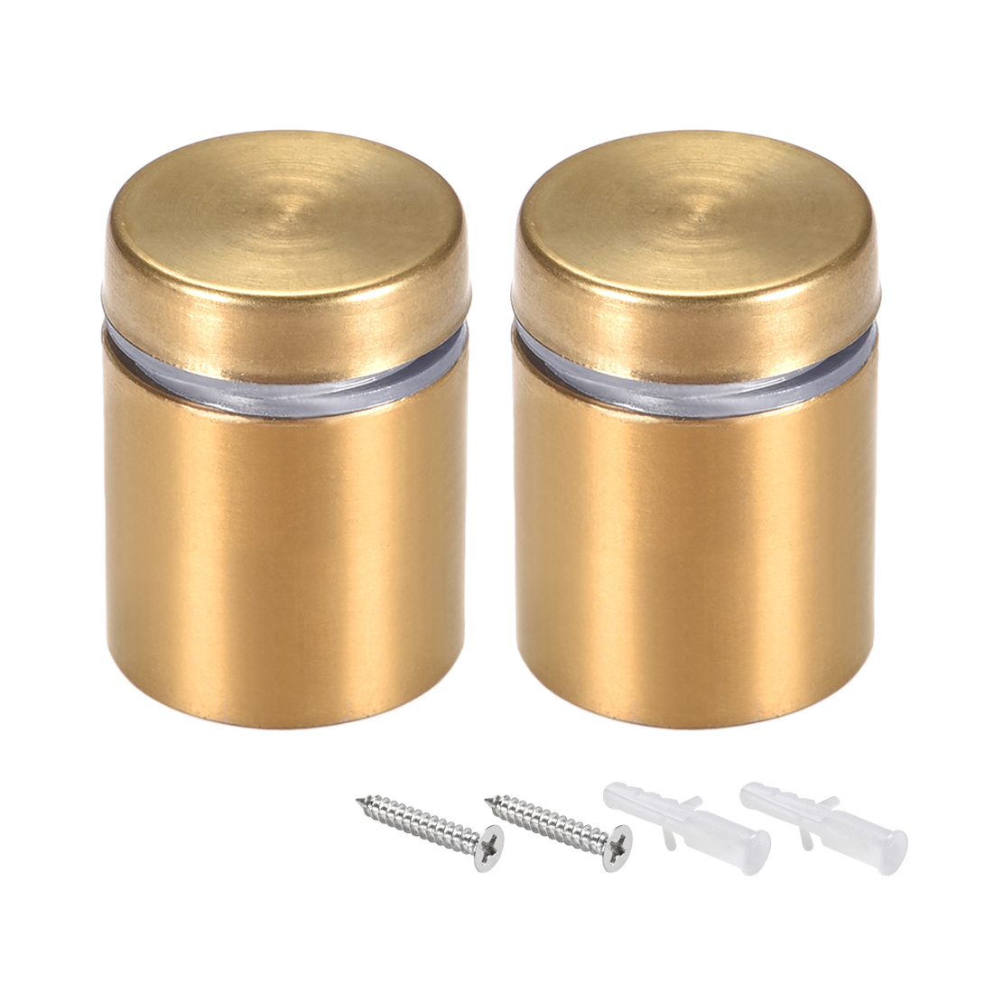 Glass Standoff Mount Wall Standoff Nails 19mm Dia 26mm Length Golden 2 Pcs