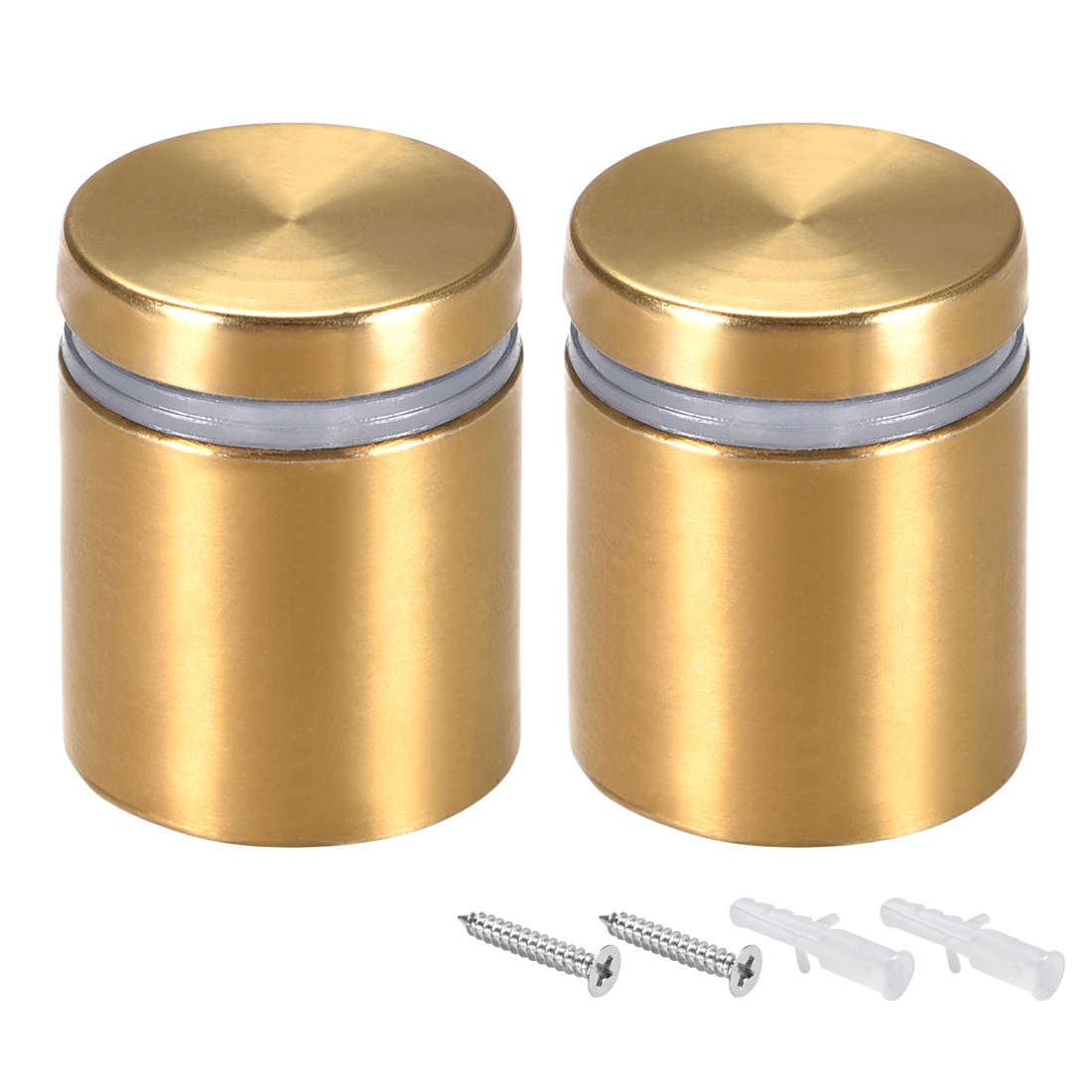 Glass Standoff Mount Wall Standoff Nails 25mm Dia 32mm Length Golden 2 Pcs