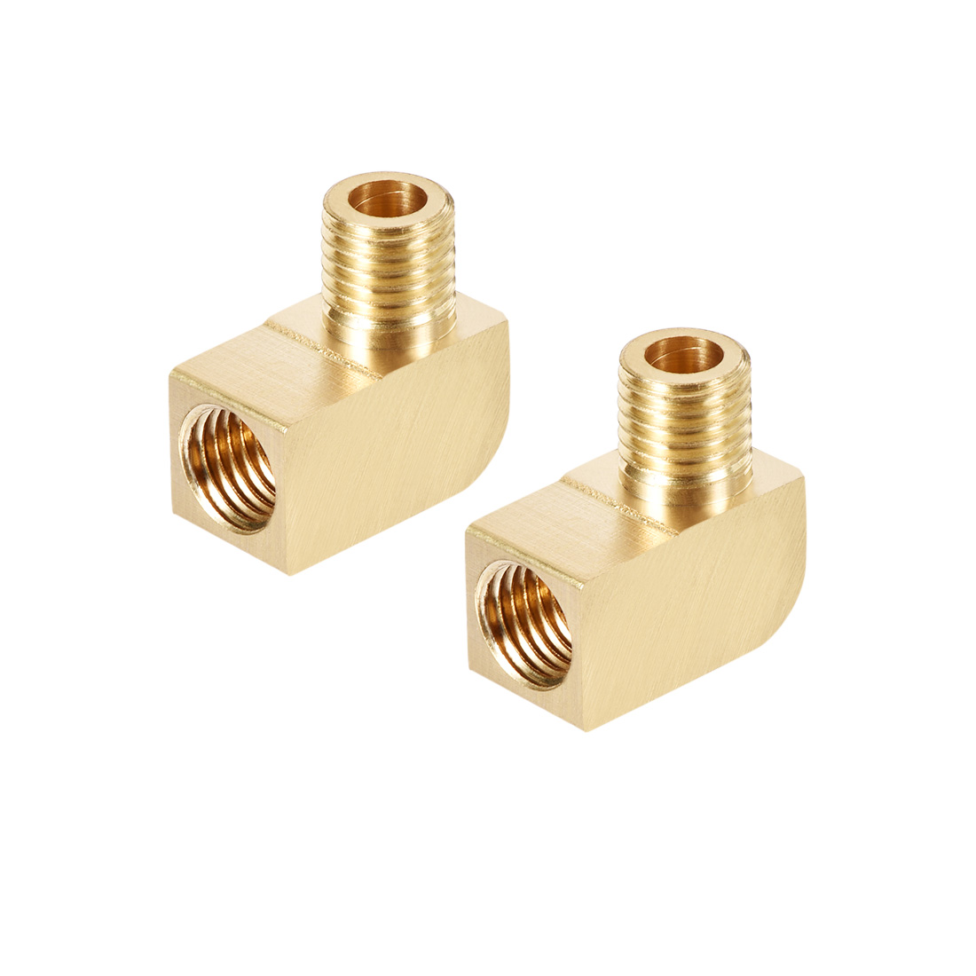 Brass Pipe Fitting 90 Degree Barstock Street Elbow M8 Male x M8 Female Pipe 2pcs