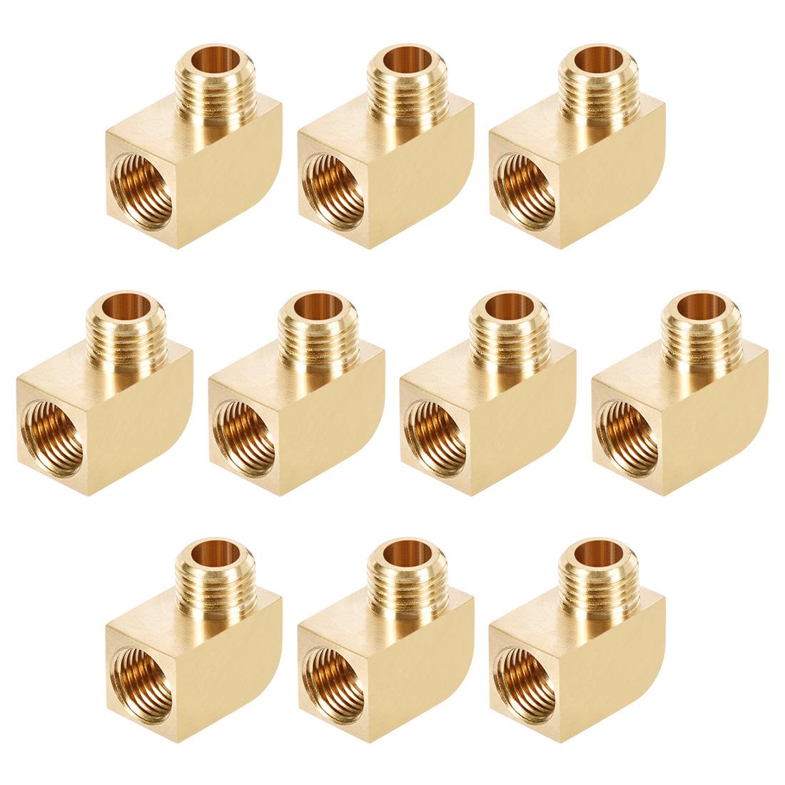 Brass Pipe Fitting 90 Degree Barstock Street Elbow M10 Male x M10 Female 10pcs