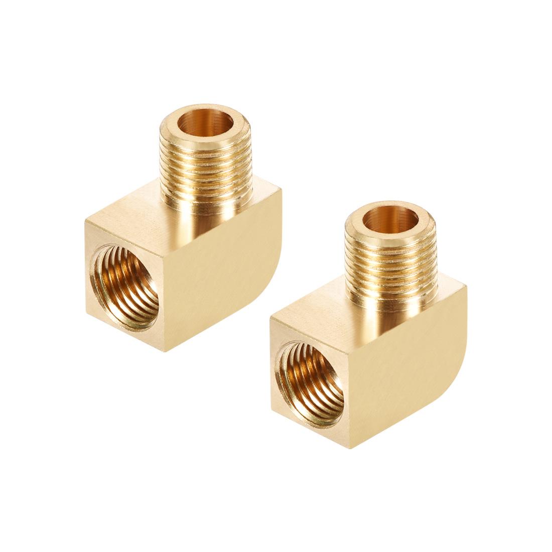 Brass Pipe Fitting 90 Degree Barstock Street Elbow M10 MalexG1/8 Female 2pcs