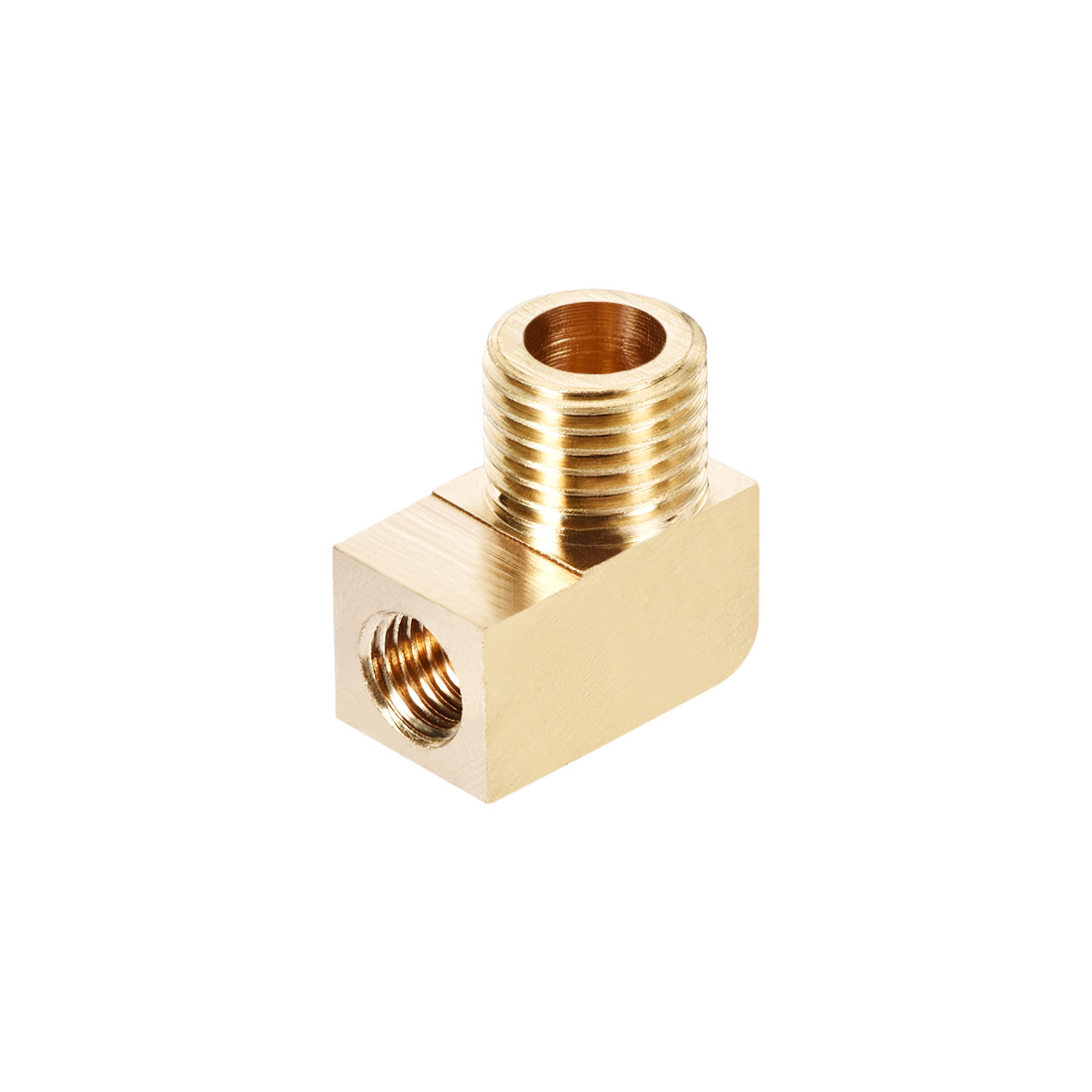 Brass Pipe Fitting 90 Degree Barstock Street Elbow G1/4 Male x M8 Female