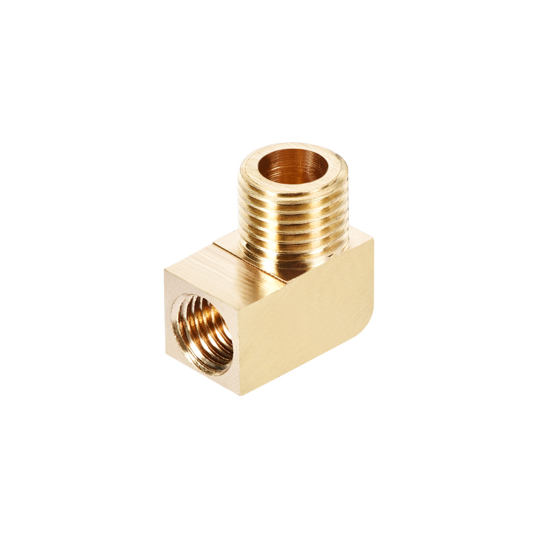 Brass Pipe Fitting 90 Degree Barstock Street Elbow G1/4 Male x M10 Female