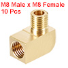 Brass Pipe Fitting 90 Degree Barstock Street Elbow M8 Male xM8 Female Pipe 10pcs