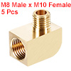Brass Pipe Fitting 90 Degree Barstock Street Elbow M8 Male xM10 Female Pipe 5pcs