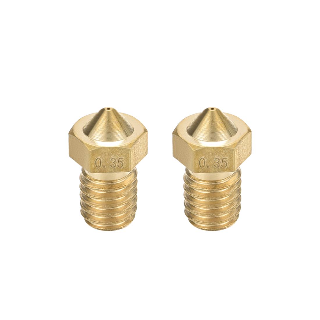 0.35mm 3D Printer Nozzle, Fit for V6, for 1.75mm Filament Brass 2pcs