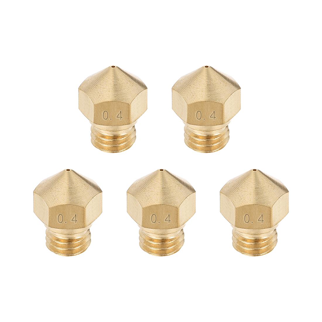 0.4mm 3D Printer Nozzle, Fit for MK10, for 1.75mm Filament Brass 5pcs