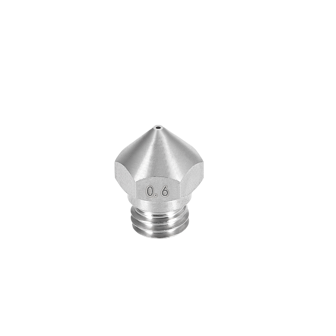 0.6mm 3D Printer Nozzle, Fit for MK10, for 1.75mm Filament Stainless Steel 1pcs