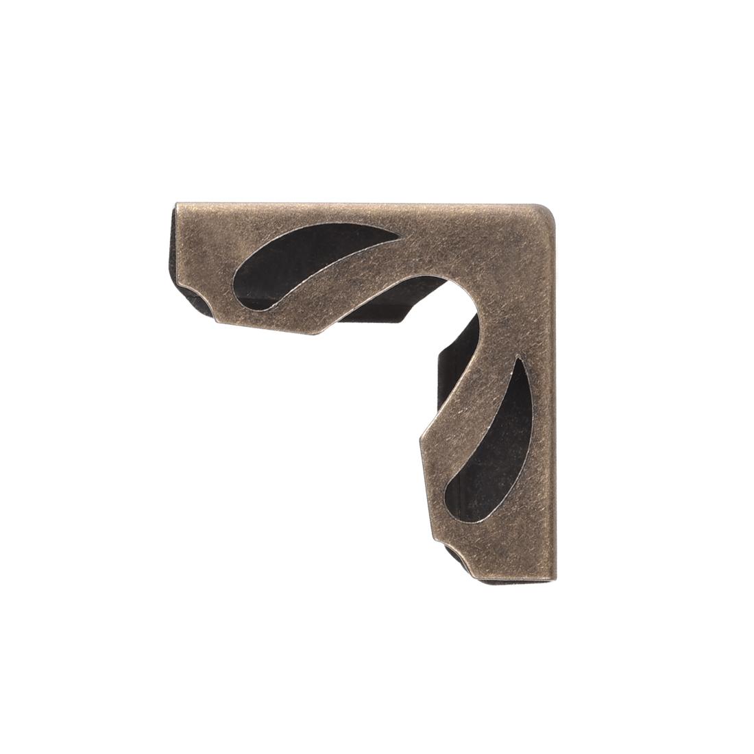 Metal Book Corner Protectors Edge Cover Guard 21 x 21 x 8.5mm Bronze Tone 40pcs