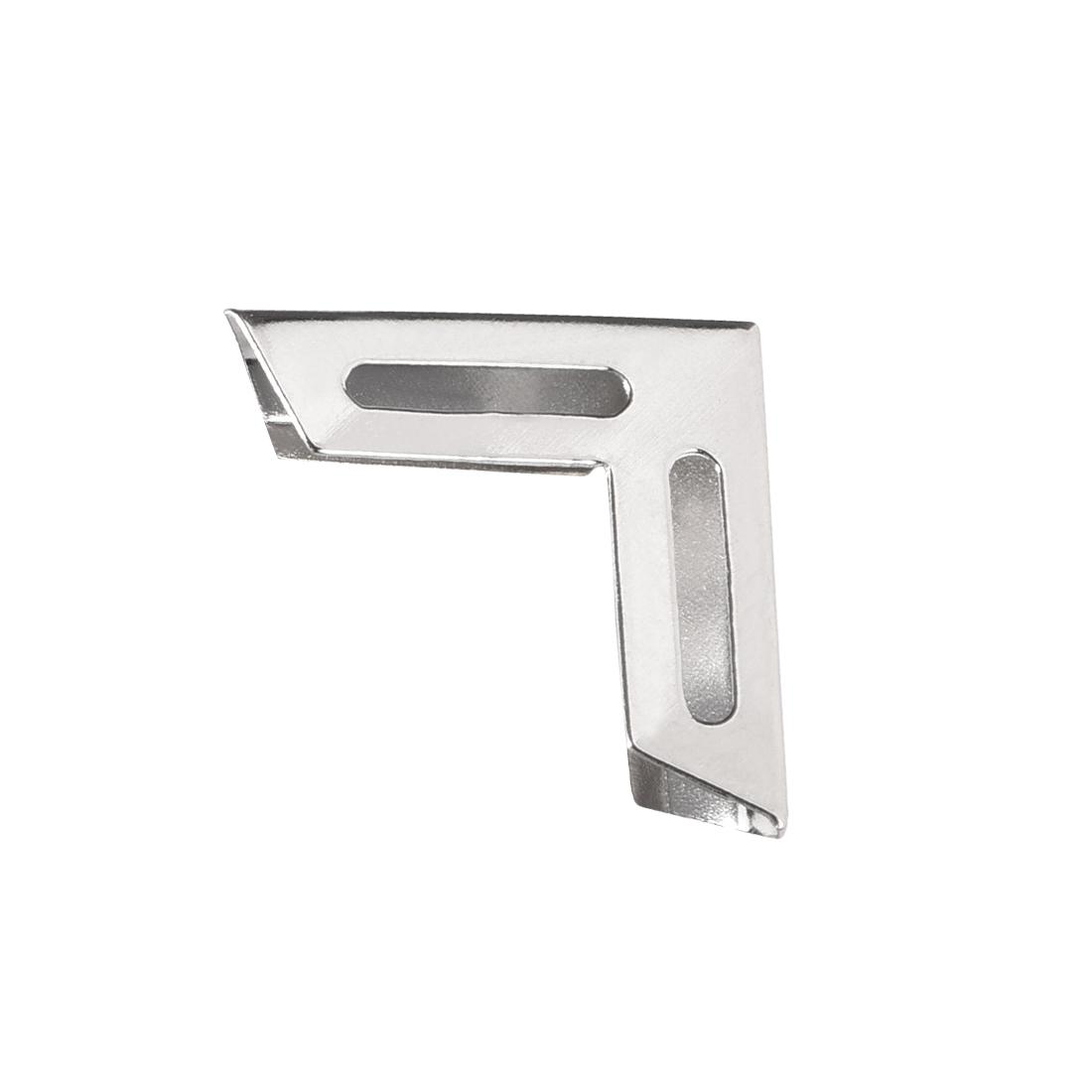 Metal Book Corner Protectors Edge Cover Guard 18 x 18 x 5mm Silver Tone 30pcs