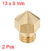 0.3mm 3D Printer Nozzle, Fit for MK10, for 1.75mm Filament Brass 2pcs
