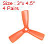 RC Propellers 3x4.5 Inch CW CCW 3-Vane for Quadcopter Multirotor Orange 4 Pairs