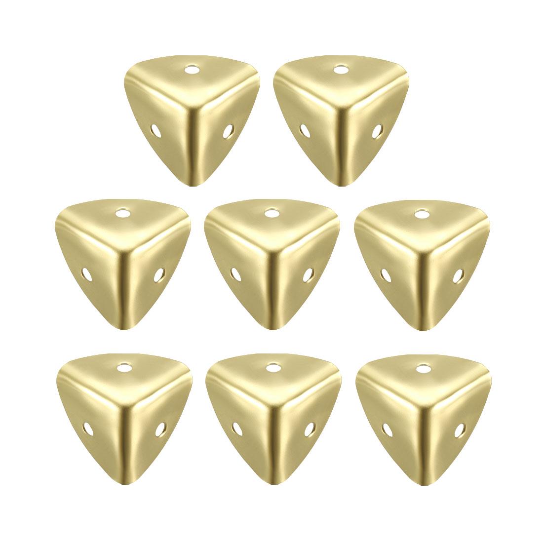 Metal Box Corner Protectors Edge Guard Protector 25x25x25mm Gold Tone 8pcs