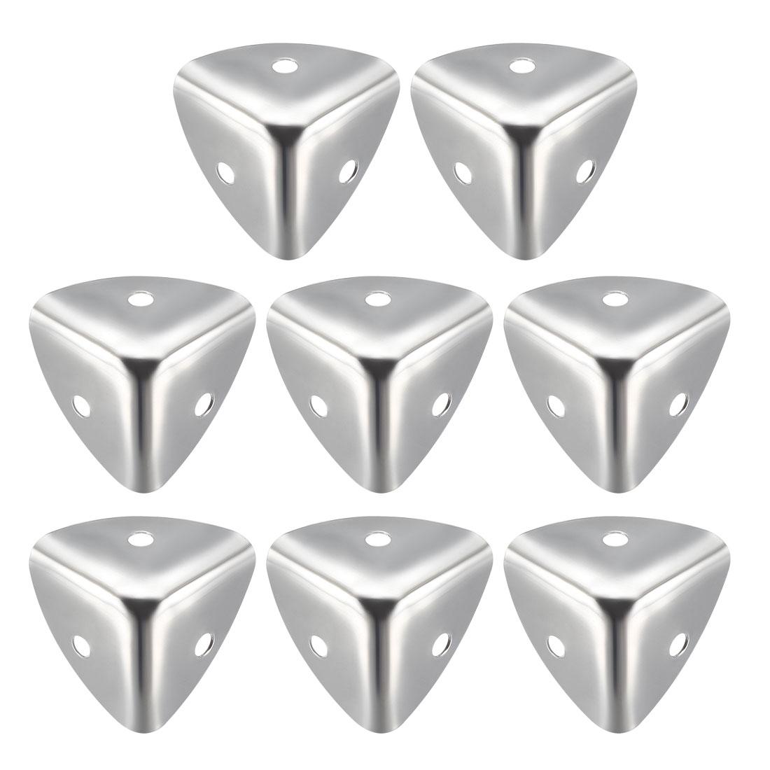 Metal Box Corner Protectors Edge Guard Protector 25 x 25 x 25mm Silver Tone 8pcs