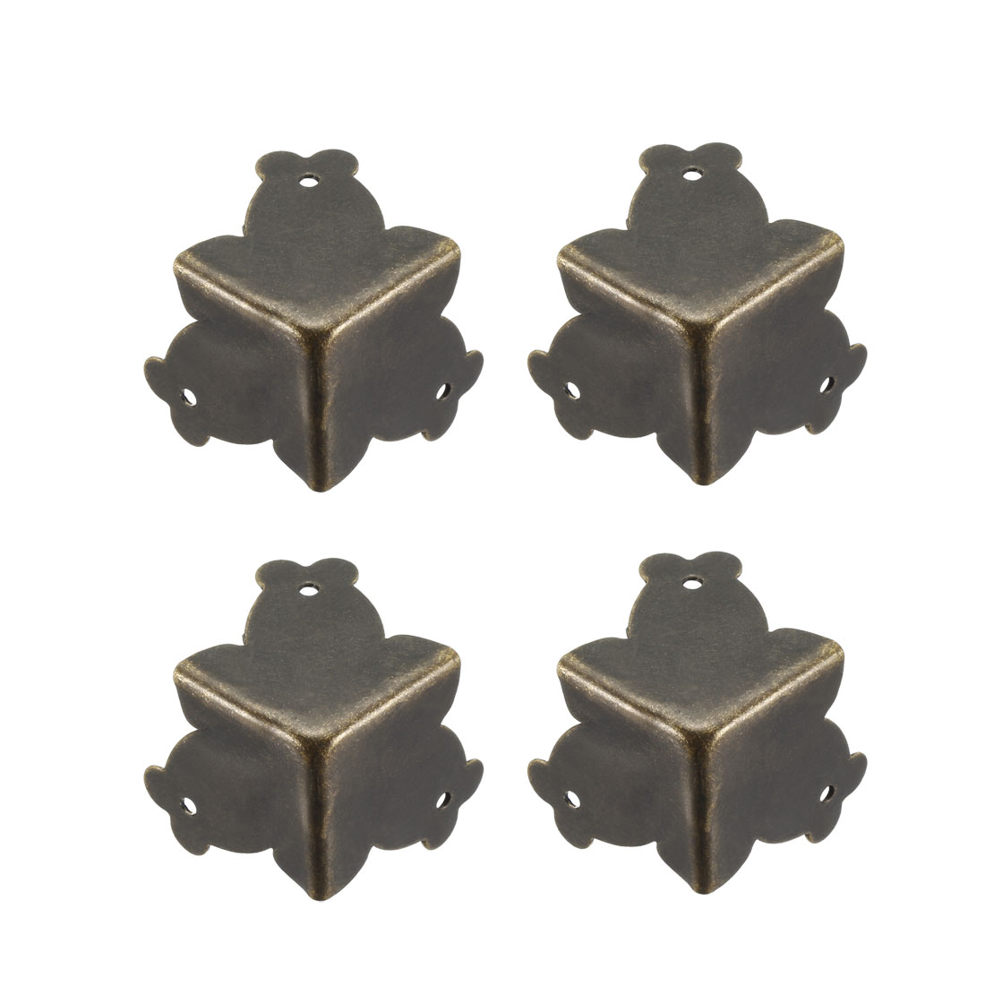 Metal Box Corner Protectors Edge Guard Protector 25x25x25mm Bronze Tone 4pcs