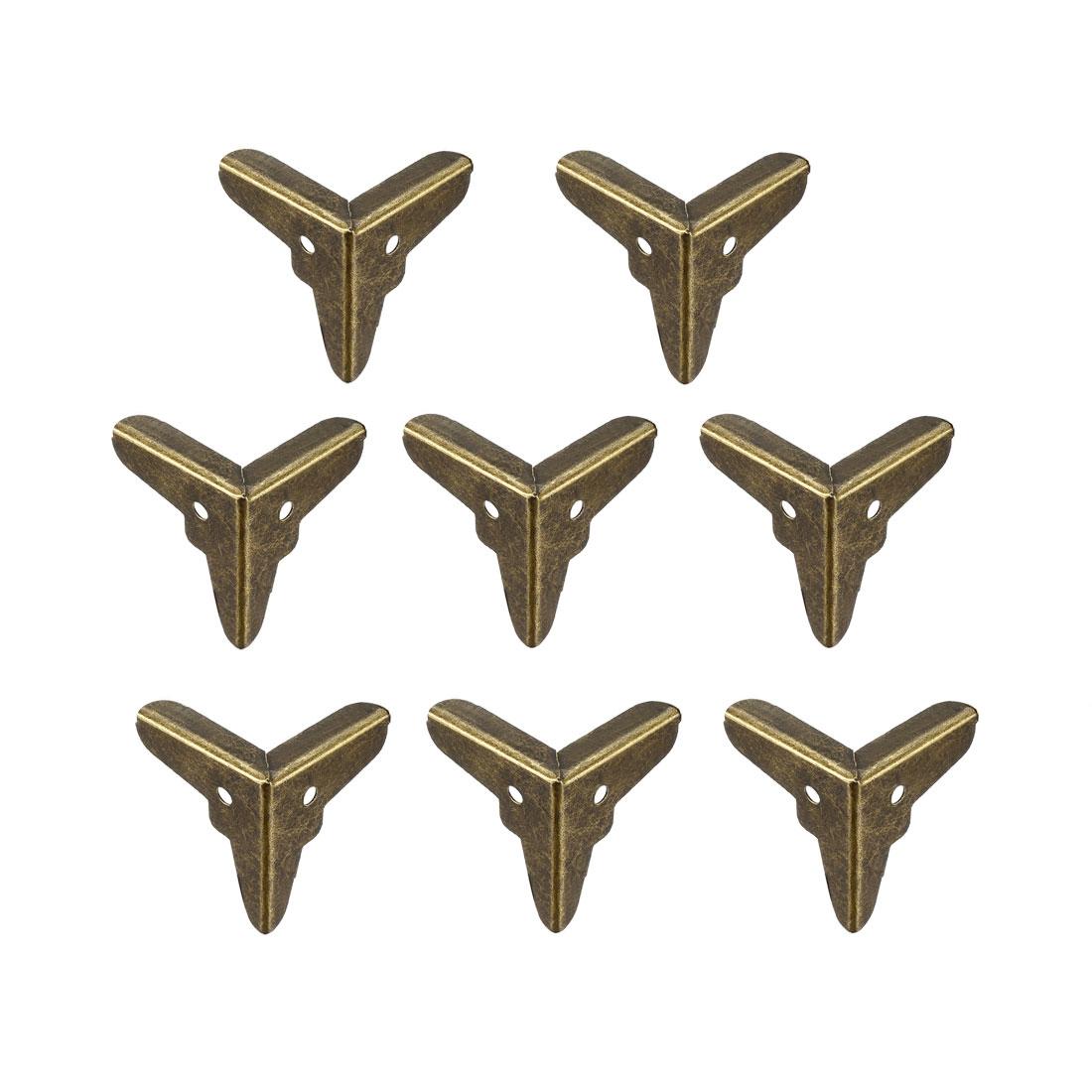 Metal Box Corner Protectors Edge Protector 20x20x20mm Bronze Tone 8pcs
