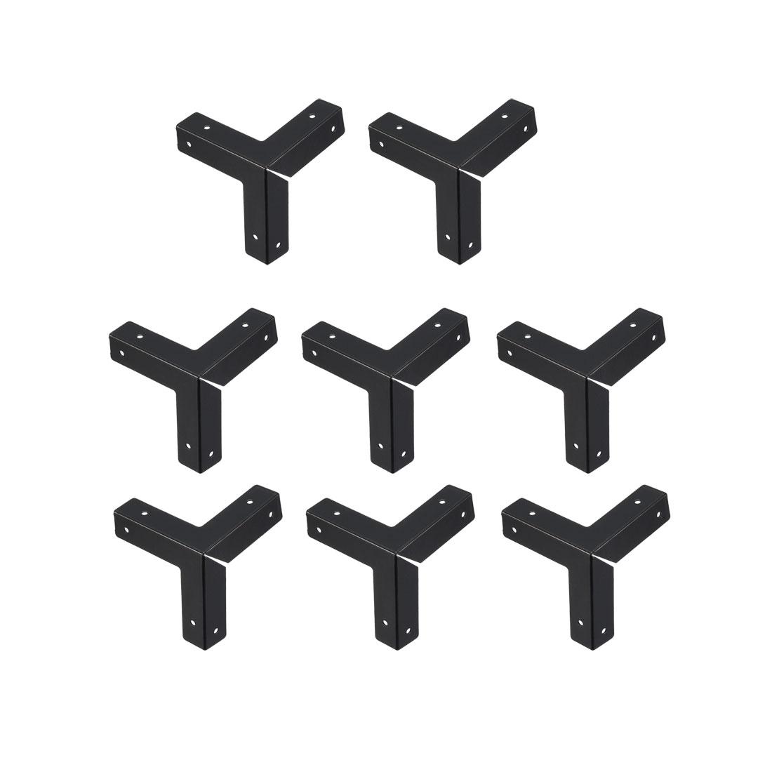 Metal Box Corner Protectors Edge Guard Protector 33 x 33 x 33mm Black 8pcs