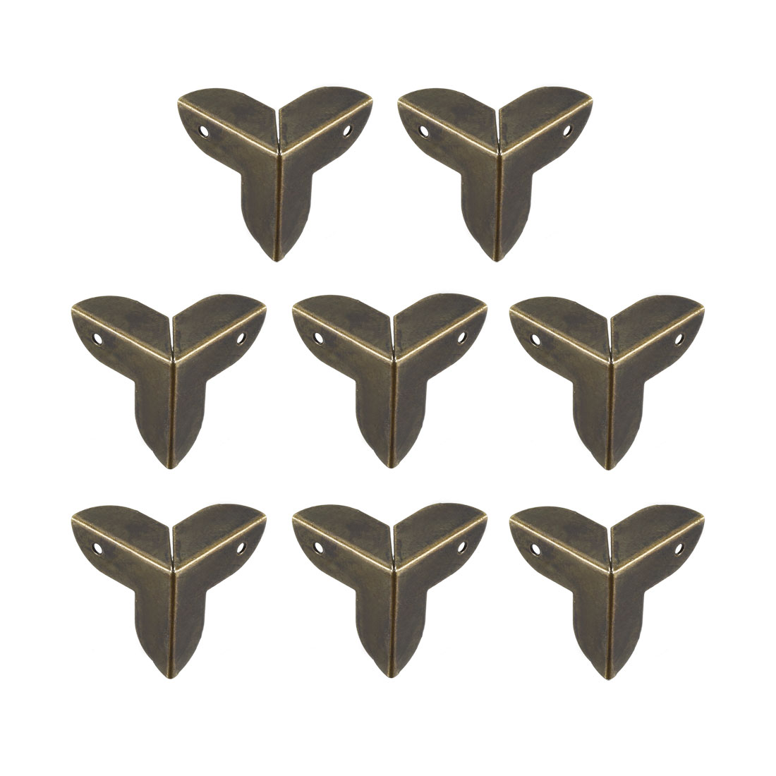 Metal Box Corner Protectors Edge Guard Protector 22x22x22mm Bronze Tone 8pcs