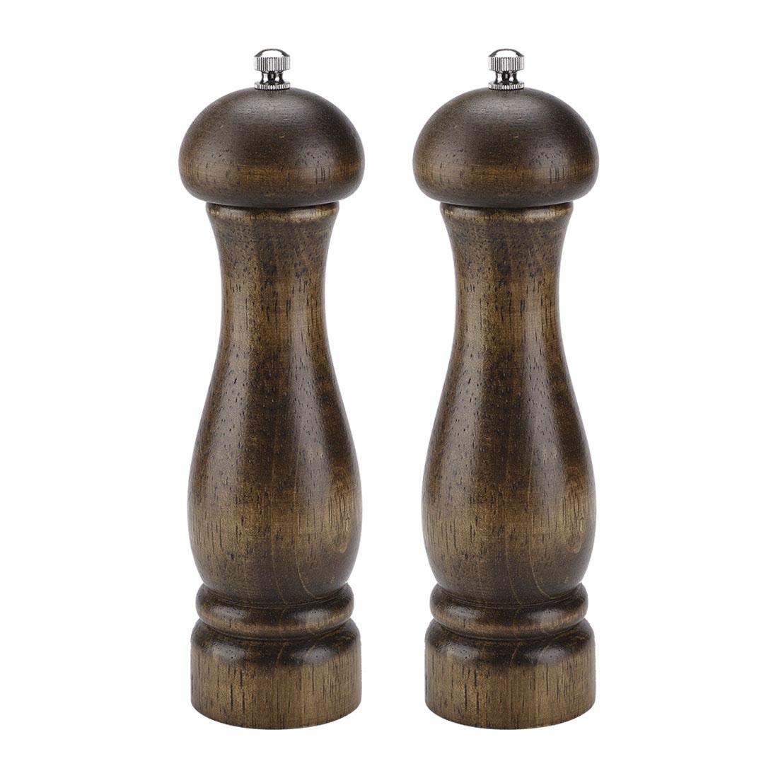 2pcs 8.3 Inch Wooden Salt and Pepper Grinder Mills Shakers Adjustable Coarseness