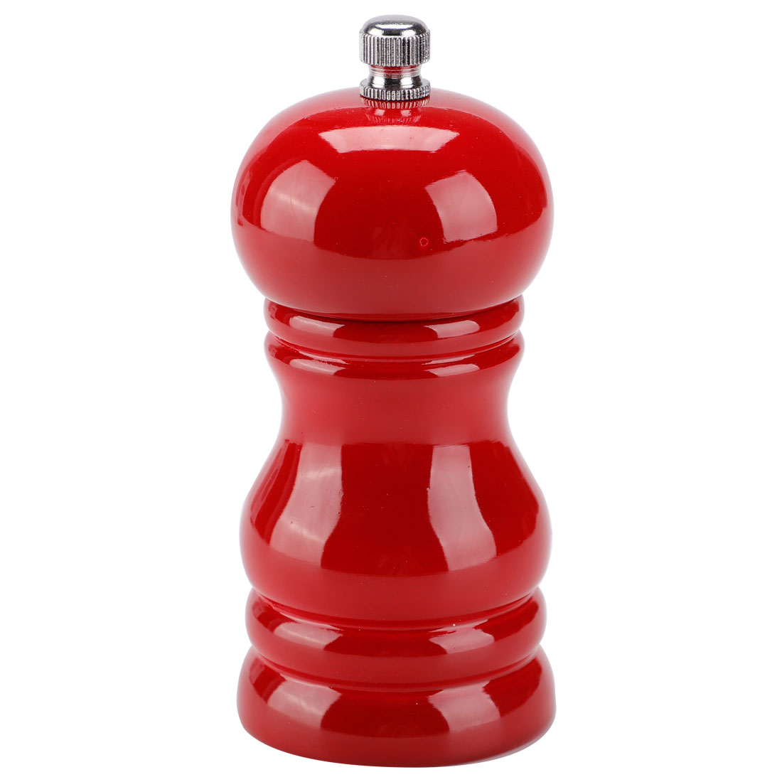 """4.5"""" Wooden Salt and Pepper Grinder Shakers with Adjustable Coarseness Red"""