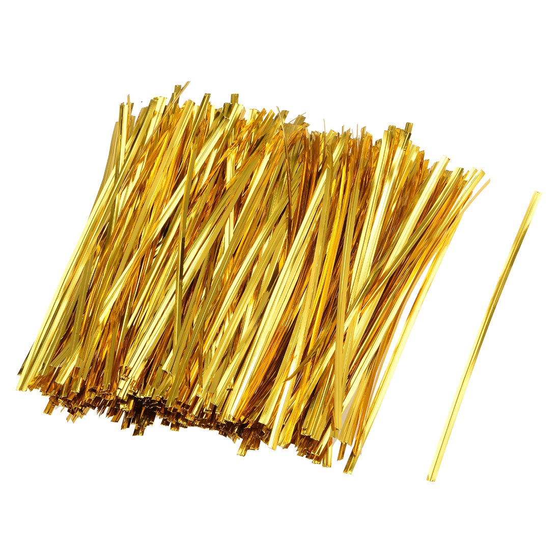 Long Strong Twist Ties 4 Inches Quality Plastic Closure Tie Golden 1000pcs