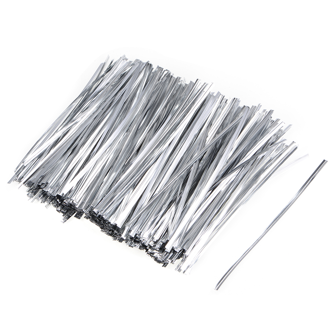 Long Strong Twist Ties 5.9 Inches Quality Plastic Closure Tie Silvery 1000pcs
