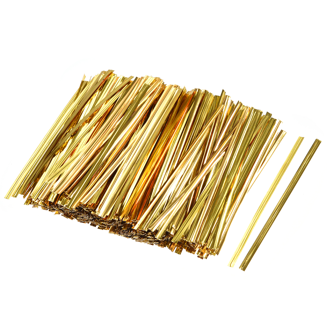 Long Strong Twist Ties 3.15 Inches Quality Plastic Closure Tie Golden 1000pcs