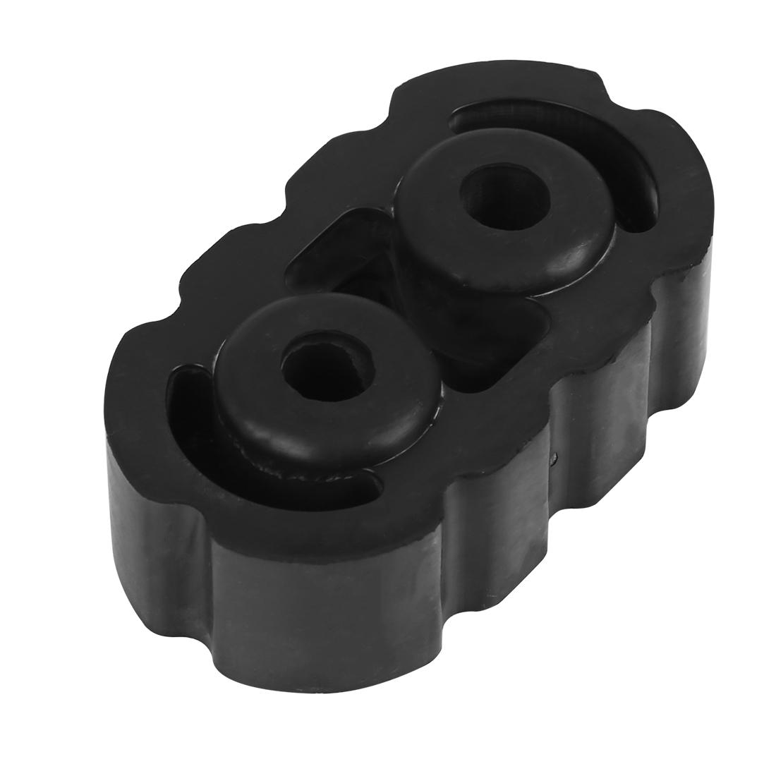 Car 2 Holes 10mm Dia Black Rubber Muffler Exhaust Hangers Bushing 77x43x28mm