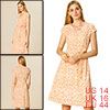 Allegra K Women's V Neck Printed Belted A-line Dress Beige Large