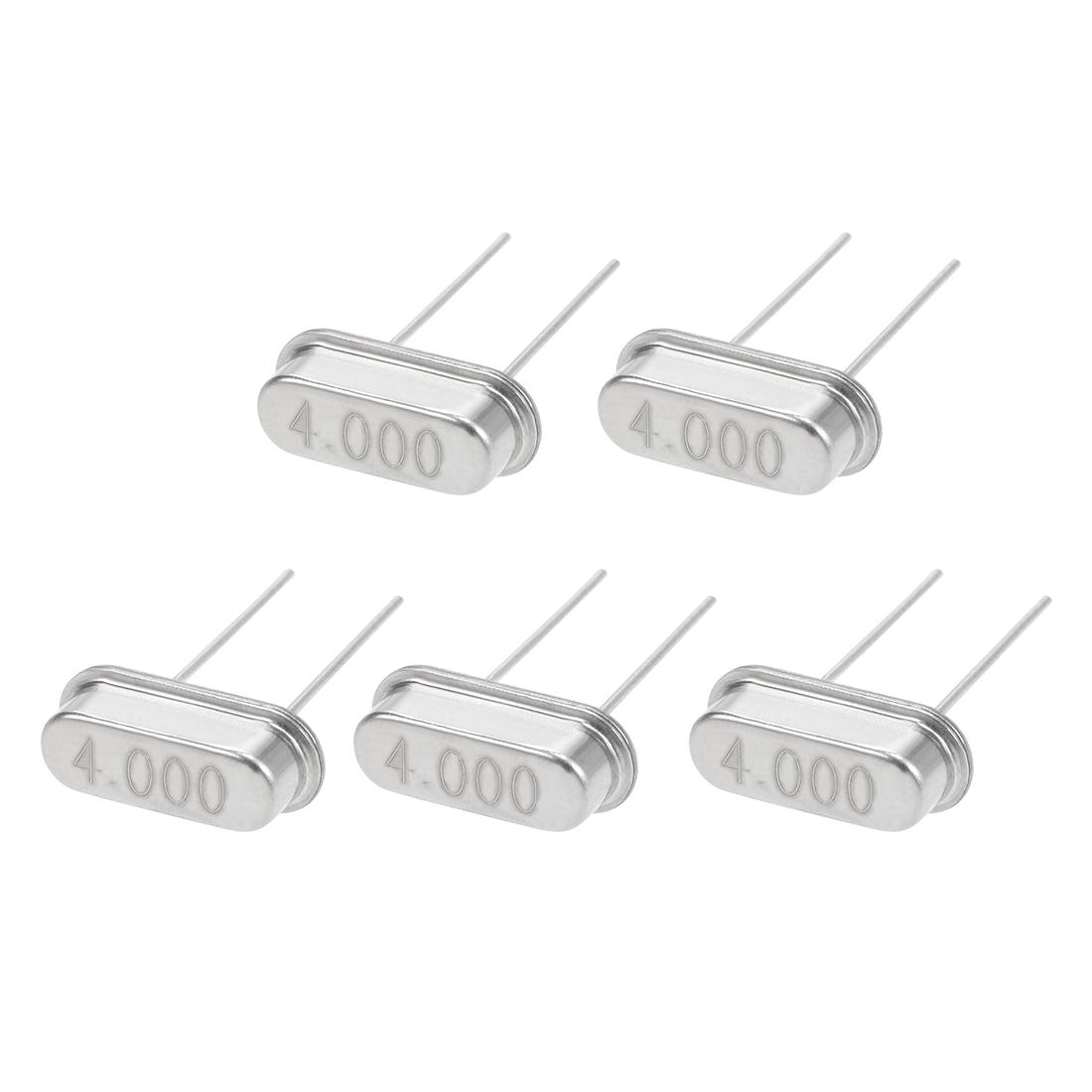 5pcs 4MHz HC-49S DIP Quartz Crystal Oscillator Resonator Replacement