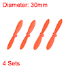 RC Propellers CW CCW 2-Vane Mini for Cheerson Only CX-10 CX-10A Orange 4 Sets