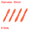 RC Propellers CW CCW 2-Vane Mini for Cheerson Only CX-10 CX-10A Orange 8 Sets