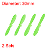 RC Propellers CW CCW 2-Vane Mini for Cheerson Only CX-10 CX-10A Green 2 Sets