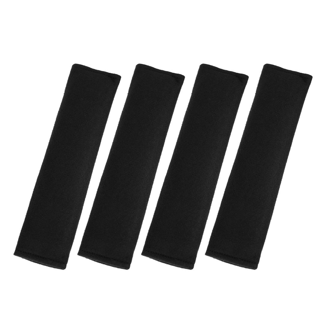 4pcs Universal Black Seat Belt Cover Shoulder Pad Strap Protector for Car Truck