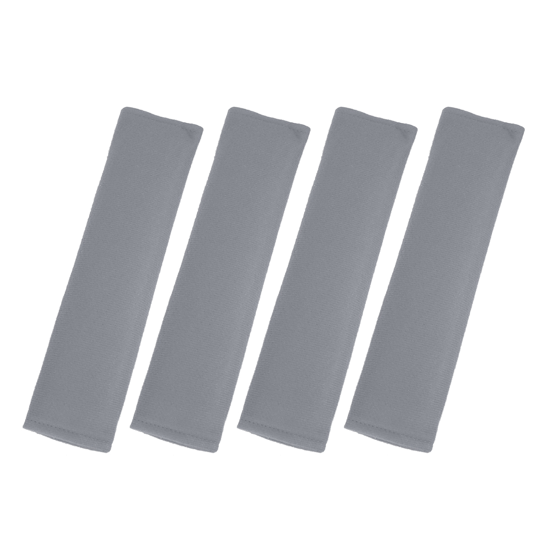 4pcs Universal Gray Seat Belt Cover Shoulder Pad Strap Protector for Car Truck