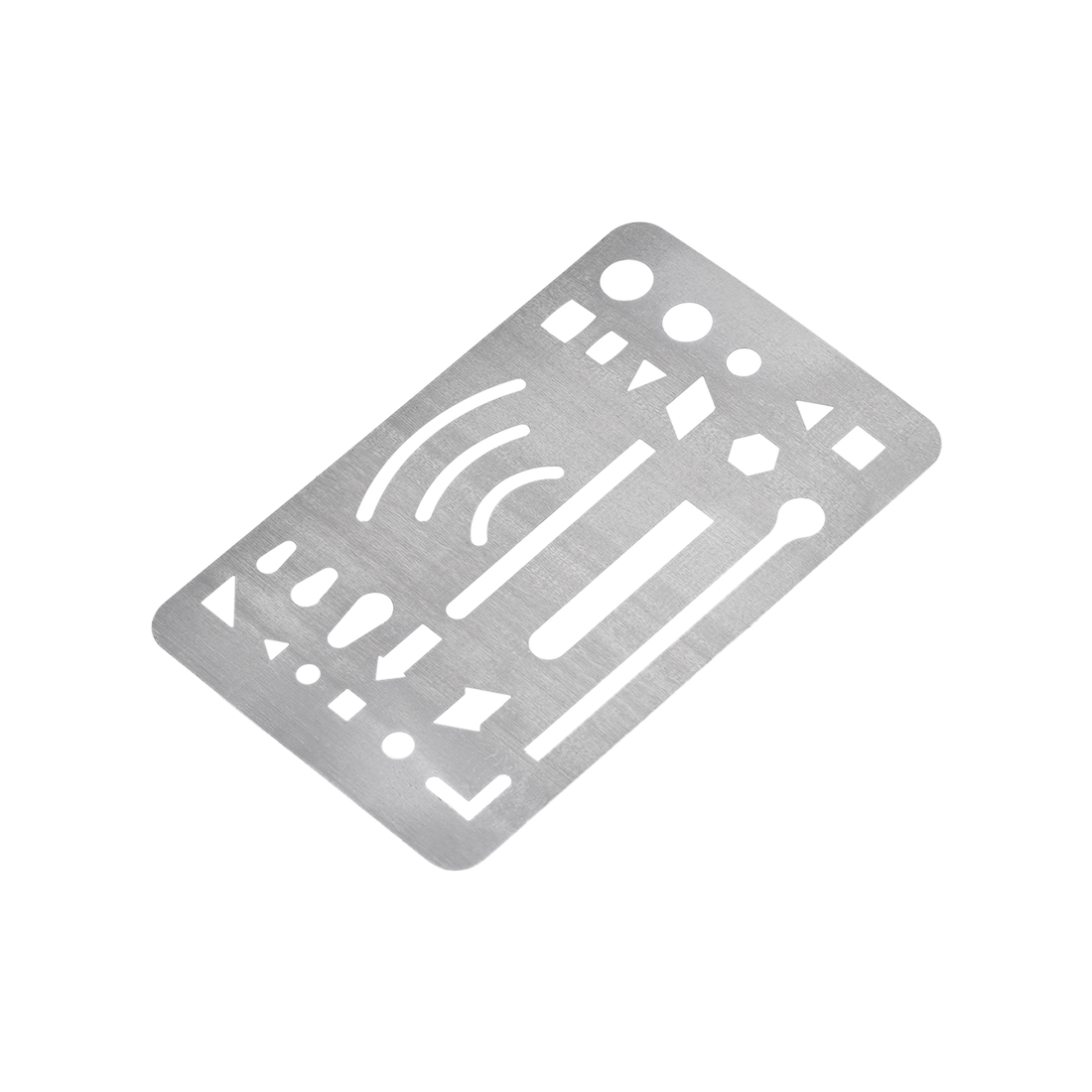 Erasing Shield 27 Patterns Stainless Steel 90x52x0.12mm