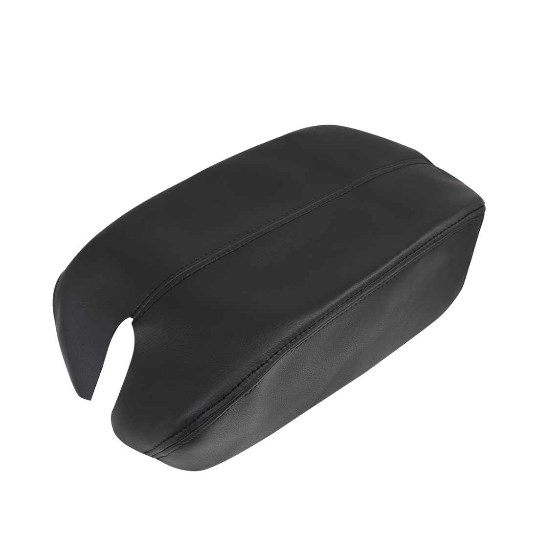 Microfiber Leather Center Console Lid Armrest Cover Black for 08-12 Honda Accord