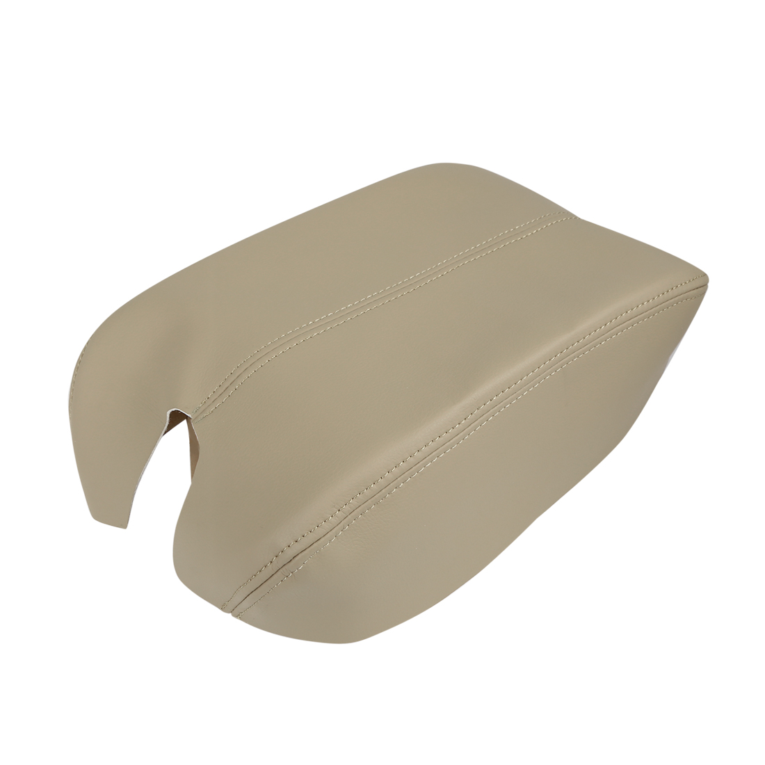 Microfiber Leather Center Console Lid Armrest Cover Beige for 08-12 Honda Accord