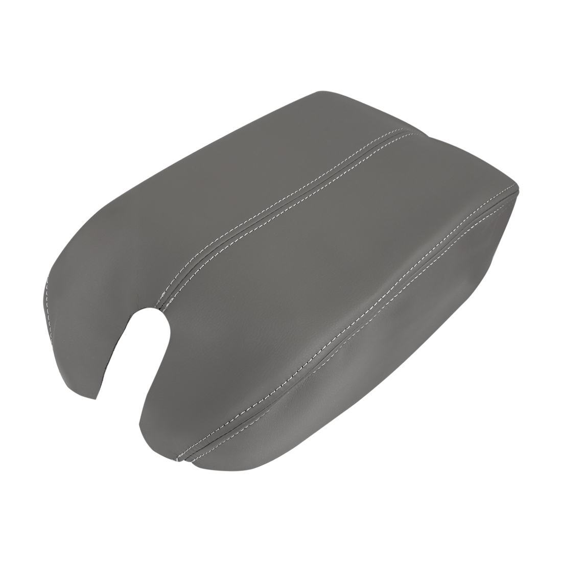 Microfiber Leather Center Console Lid Armrest Cover Gray for 08-12 Honda Accord