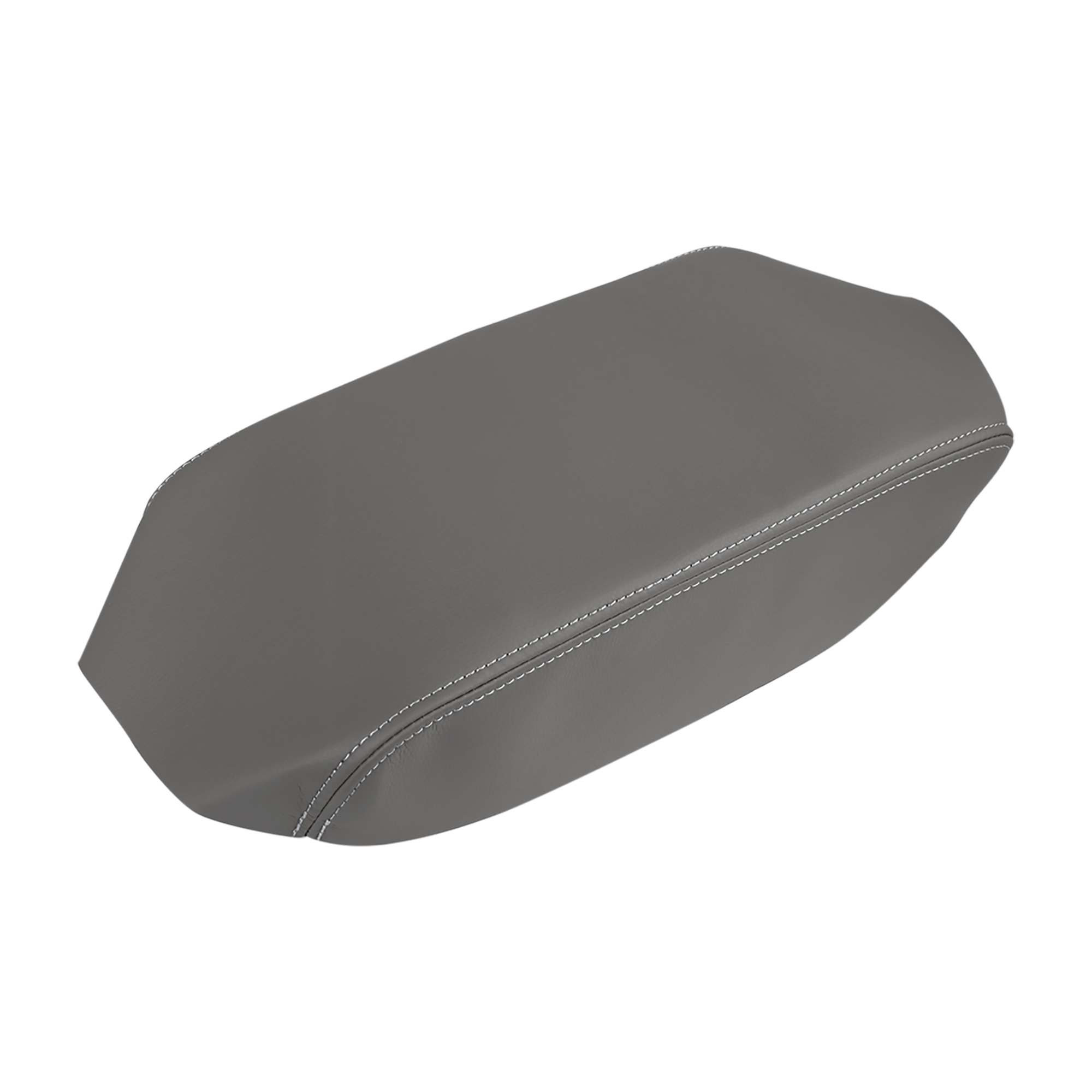 Center Console Armrest Microfiber Leather Cover Gray for 08-13 Toyota Highlander