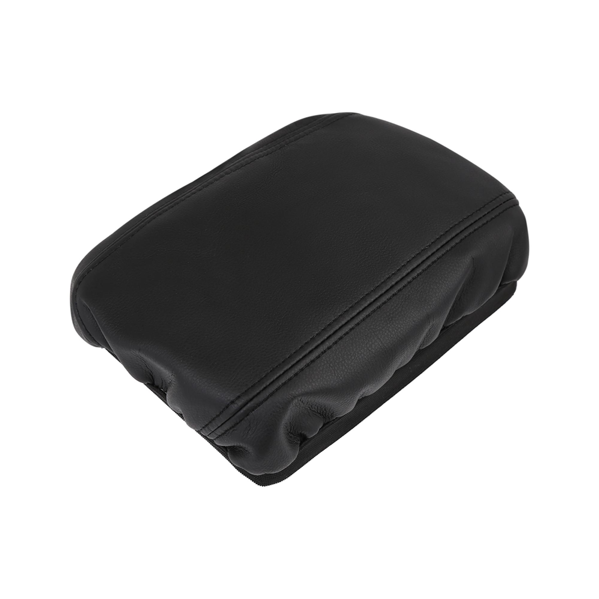 Microfiber Leather Center Console Lid Armrest Cover BK for 2006-11 Honda Civic