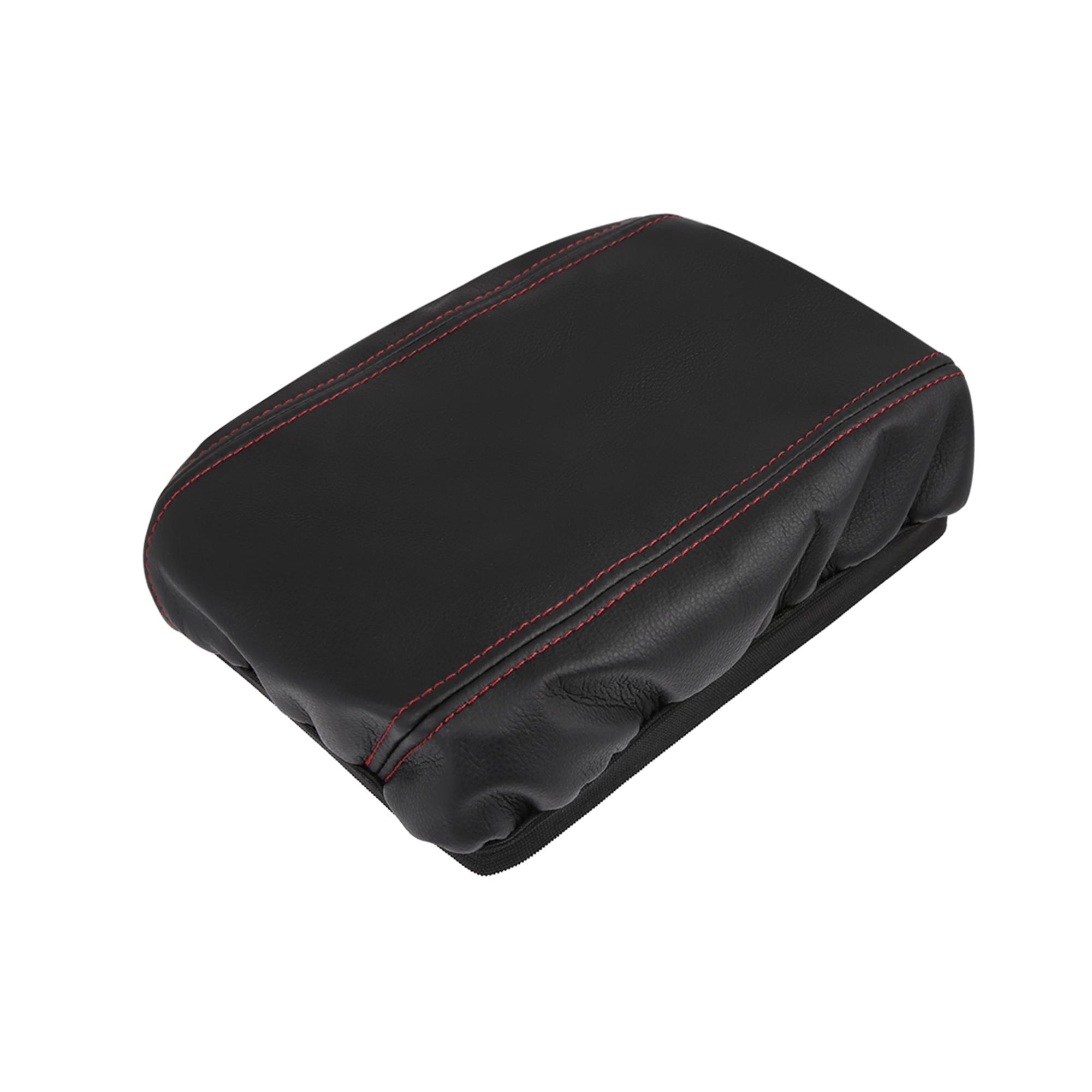 Microfiber Leather Center Console Lid Armrest Cover Skin for 07-11 Honda Civic
