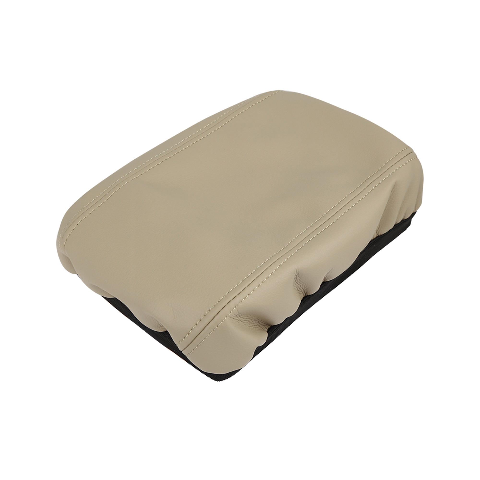 Microfiber Leather Center Console Lid Armrest Cover Beige for 07-11 Honda Civic